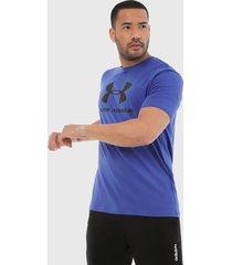 camiseta azul royal-negro under armour graphic jupiter