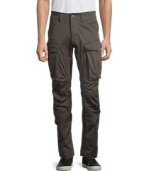 g-star raw men's 3d straight tapered cargo pants - raven - size 36 32