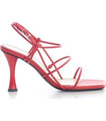 open toe pumps w/belt on ankle