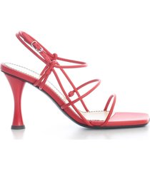 proenza schouler open toe pumps w/belt on ankle