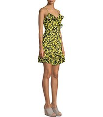 erica ruffle mini dress