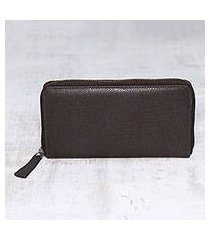 leather wallet, 'collected in brown' (india)