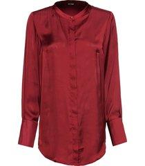 camicetta lunga con collo alla coreana (rosso) - bodyflirt