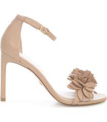 stuart weitzman nudistsong flower high sandals w/belt on ankle nappa