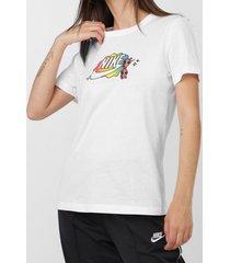 camiseta nike sportswear w nsw tee summer fu branca - kanui