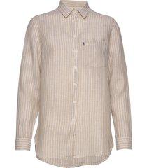 isa linen shirt overhemd met lange mouwen crème lexington clothing
