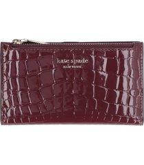 kate spade sylvia logo leather wallet