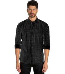 jared lang dot print long sleeve sport shirt