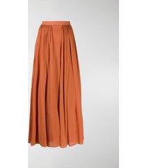 max mara pleated maxi skirt
