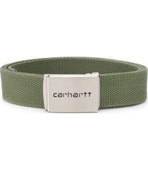 carhartt wip canvas belt - green