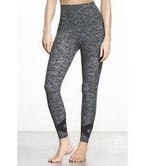 leggings de gimnasia grises de cintura alta
