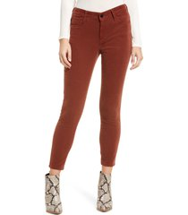 mavi jeans mavi tess cotton blend courduroy pants, size 31 27 in brick cord at nordstrom