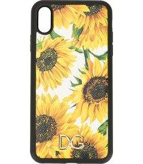 dolce & gabbana sunflower print iphone xs max case - yellow