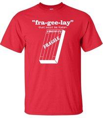 fra-gee-lay it must be italian leg lamp christmas story men's tee shirt 501