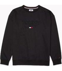 tommy hilfiger men's adaptive logo sweatshirt jet black - xl