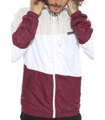 jaqueta corta vento vida marinha com capuz cinza/branco/bordã´ - bordã´/vinho - masculino - nylon - dafiti