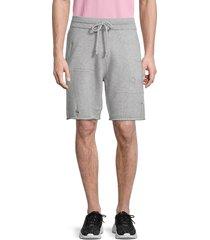 helmut lang men's distressed wool-blend shorts - grey - size xxl