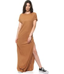 vestido marrón vespertine