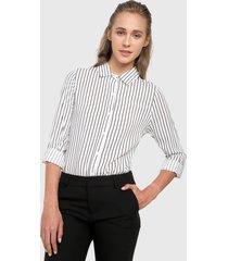 camisa blanco-negro active