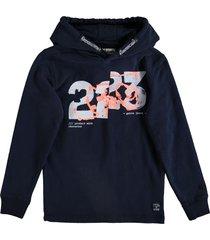 garcia zachte donkerblauwe sweater hoodie