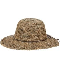 scala hand-crocheted seagrass floppy hat
