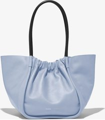 proenza schouler large ruched tote 450 sky blue one size