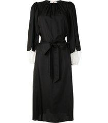 tory burch tied-waist sheath dress - black