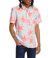 men's chubbies the bloomslam short sleeve button-down popover seersucker shirt