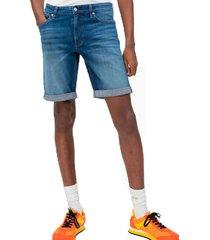 shorts slim omega azul calvin klein