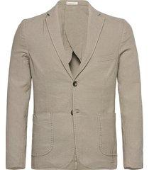 structured blazer blazer kavaj beige knowledge cotton apparel