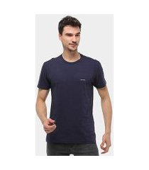 camiseta calvin klein slim silk leaves manga curta masculina