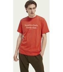 scotch & soda logo-t-shirt van katoenen jersey