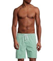 brooks brothers men's montauk striped swim shorts - open green - size xl