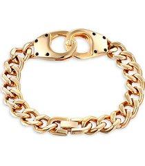 elias handcuff goldplated titanium curb chain bracelet