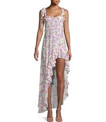 caroline floral high-low dress