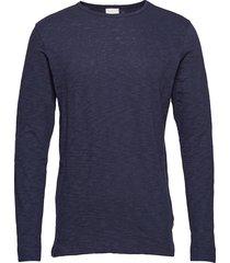 cotton, slope sweat - gots sweat-shirt trui blauw knowledge cotton apparel
