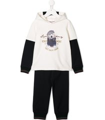 lapin house hooded tracksuit set - white