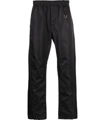 1017 alyx 9sm shiny-effect track pants - black