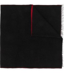 givenchy two-tone logo scarf - black