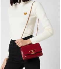 tod's women's micro shoulder/clutch bag - red garnet
