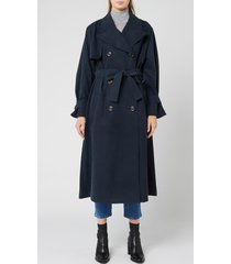 see by chloé women's trench coat - ink navy - eu 40/uk 12