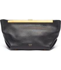 'aimee' gathered leather clutch
