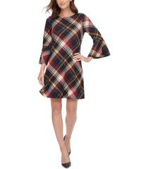 jessica howard petite plaid bell-sleeve dress