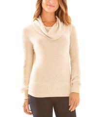 bcx juniors' fuzzy cowlneck sweater