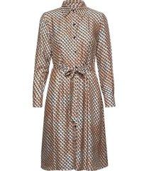 3359 mix - mikelle s jurk knielengte bruin sand