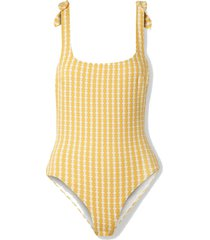 net sustain zala nageur tie-detailed stretch-jacquard swimsuit
