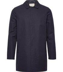funtional carcoat jacket - gots/veg trenchcoat lange jas blauw knowledge cotton apparel