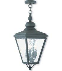 livex cambridge 3-light outdoor chain-hang lantern