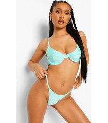 essentials tanga string bikini broekje, bright green