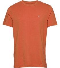 james tee t-shirts short-sleeved orange morris